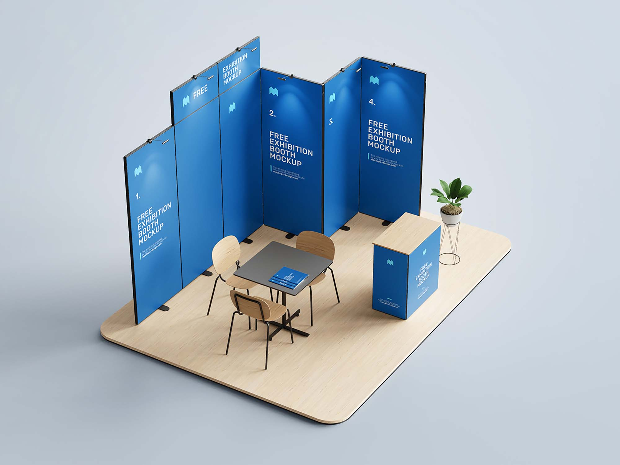 Exhibition Booth Mockup 3