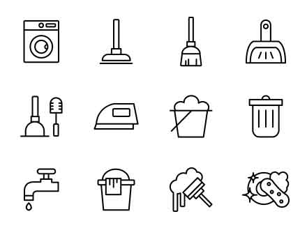 Household Cleaning Icons
