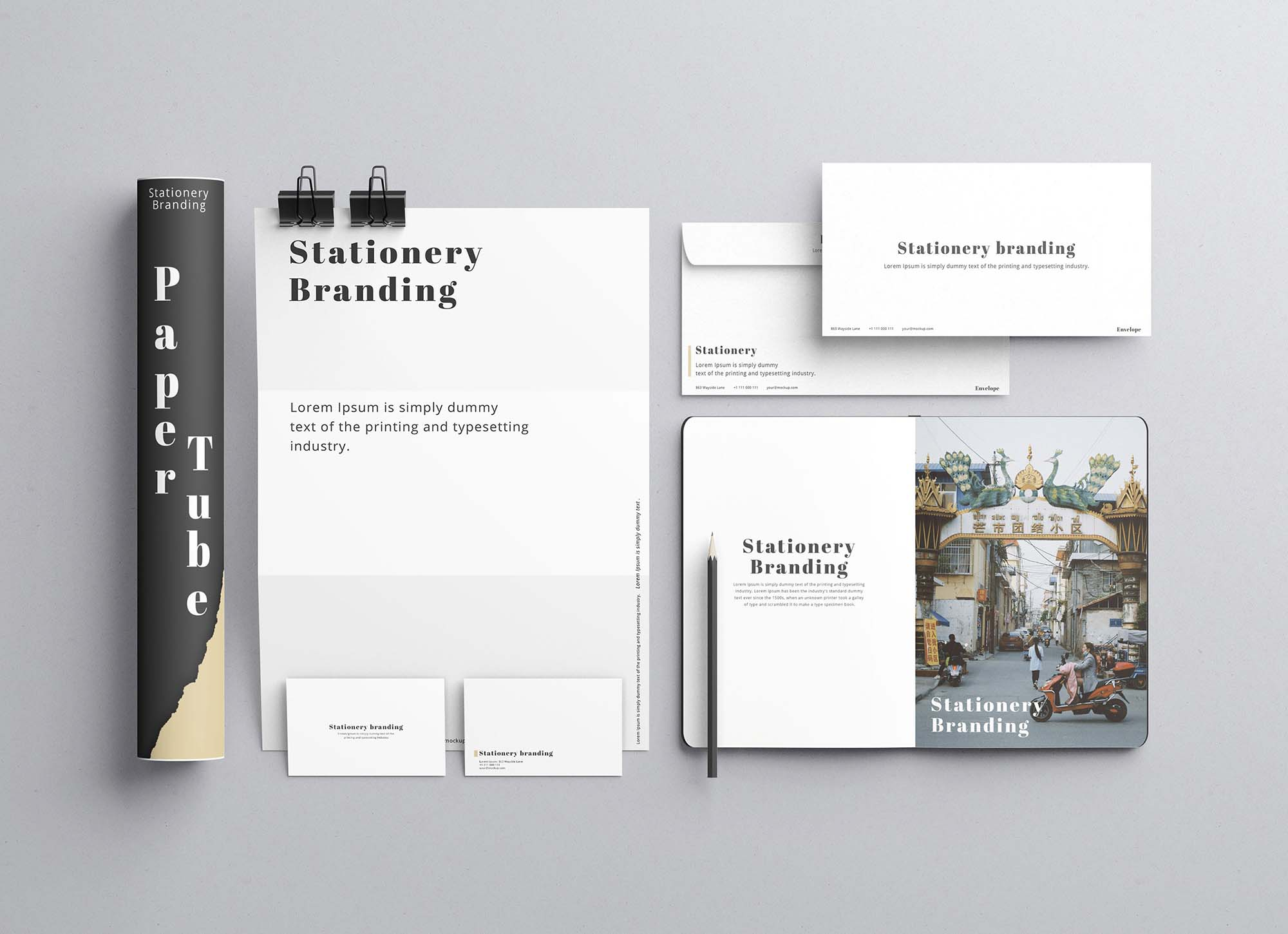 Modern Stationery Branding Mockup