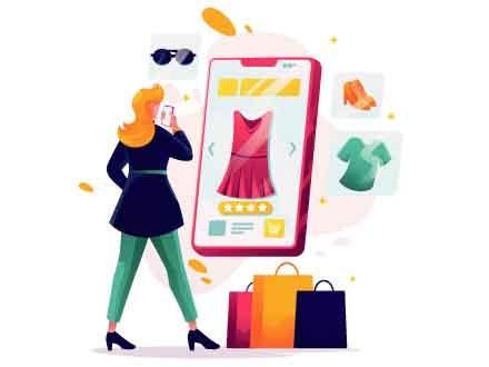 Online App Shopping Illustration