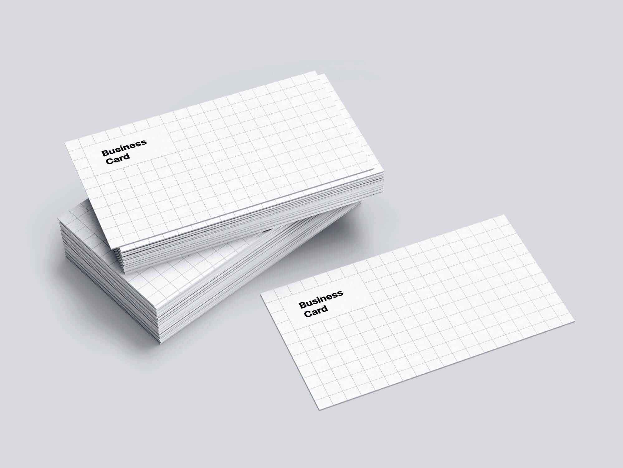 Stacked Business Cards Mockup 2