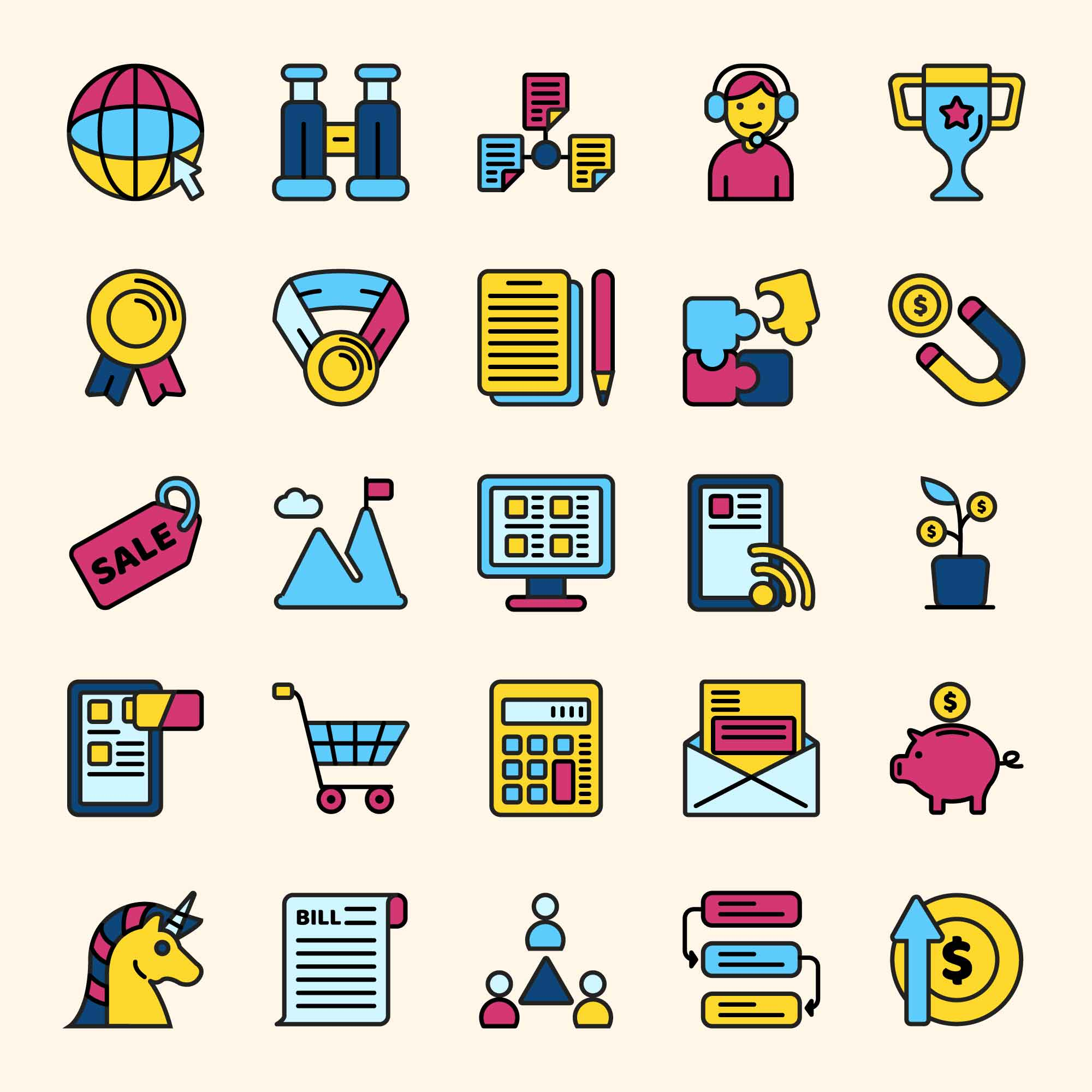 Startup Colored Icons