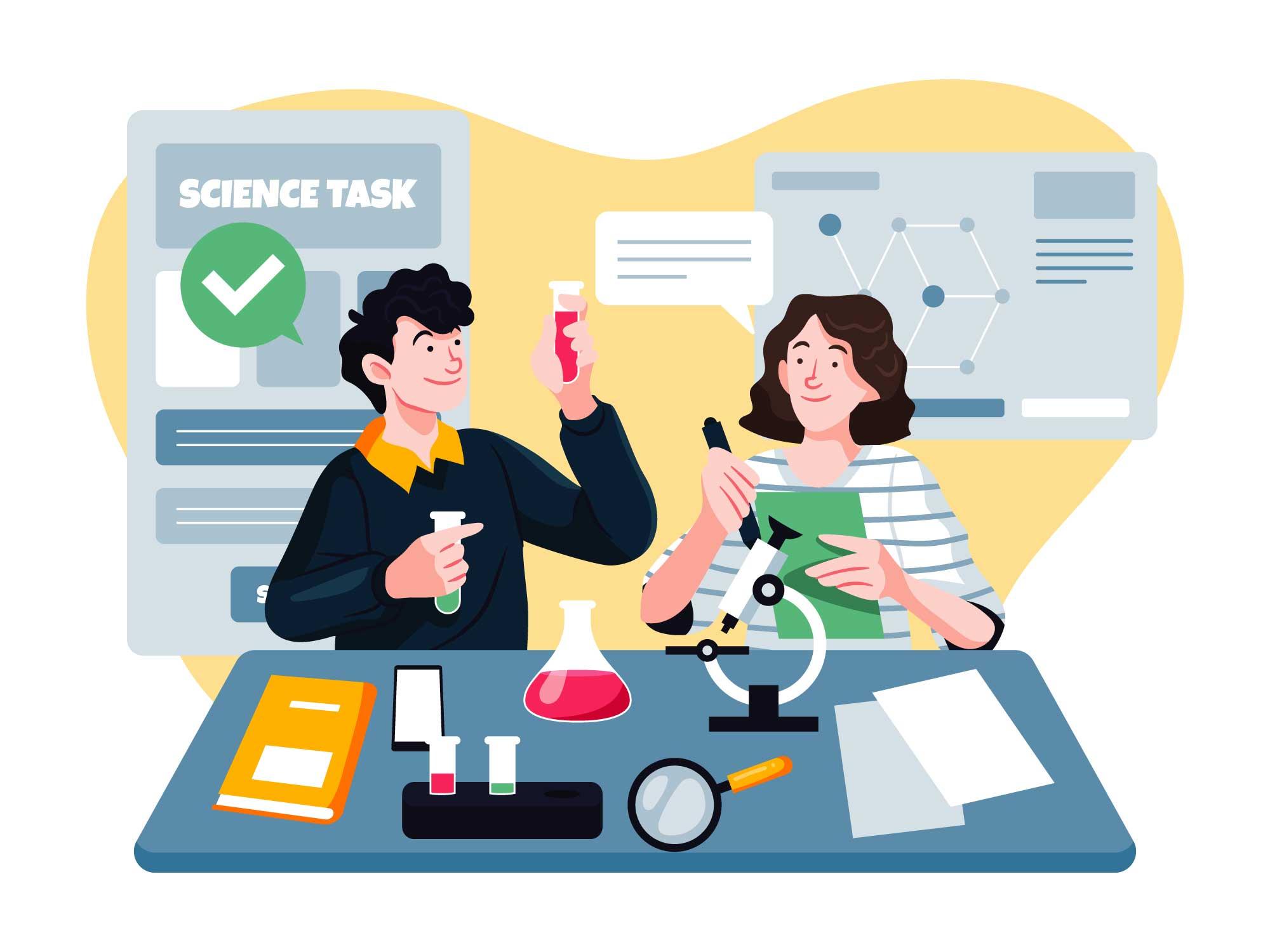 University Activities Illustration