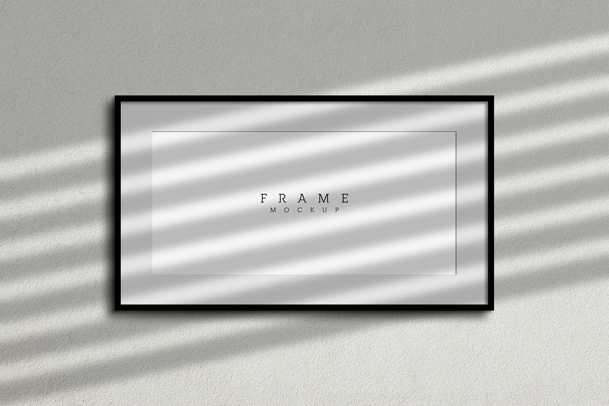 Wide frame poster mockup