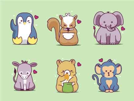 Wild Animals Vector Icons
