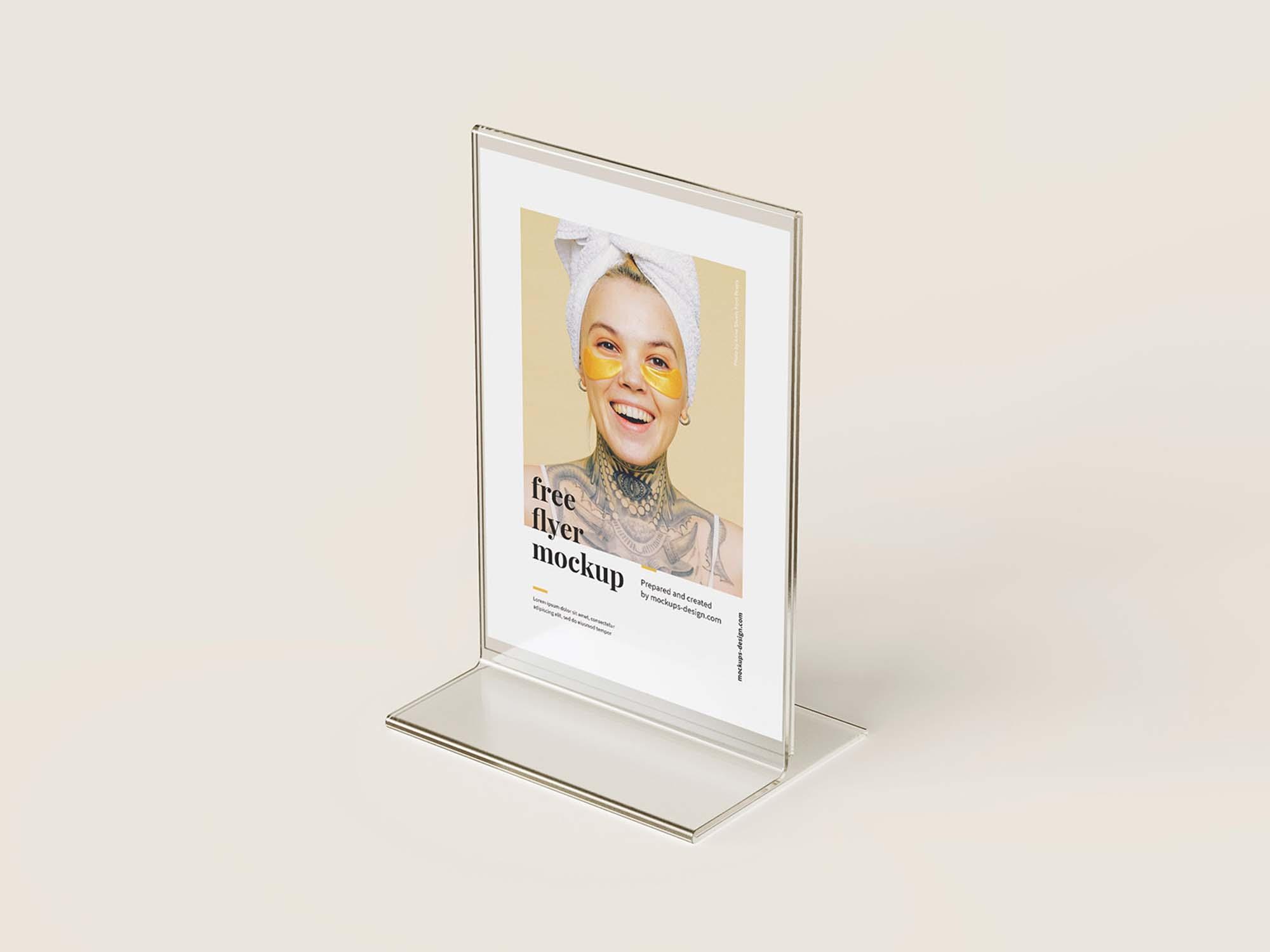Acrylic Flyer Stand Mockup 2