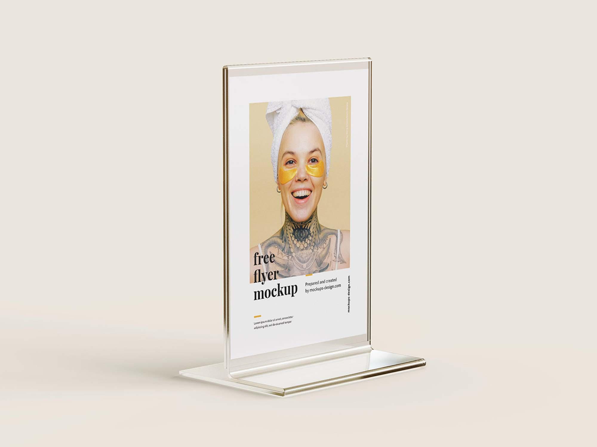 Acrylic Flyer Stand Mockup 3