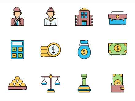 Banker Vector Icons