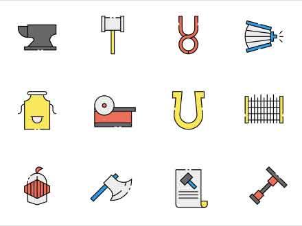 Blacksmith Vector Icons