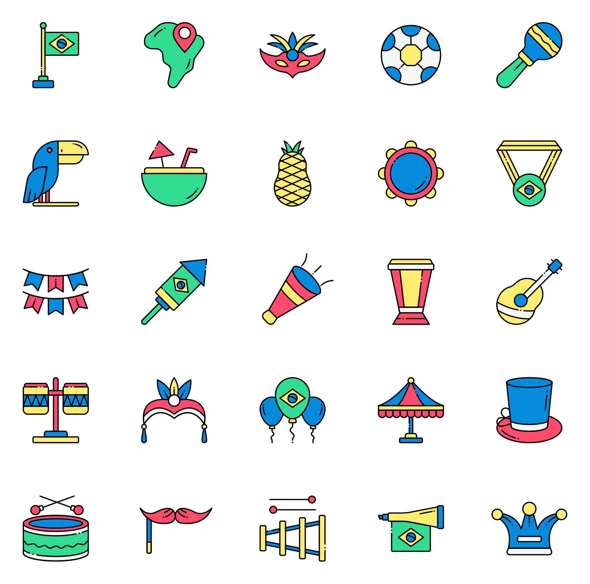 Brazil Vector Icons