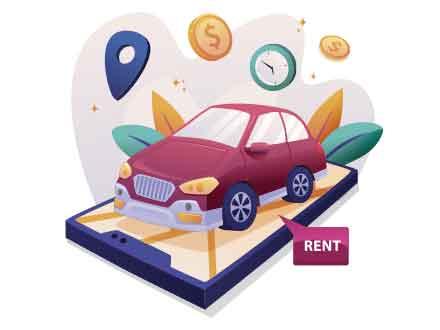 Car Rental Illustration