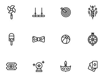 Circus Activities Icons