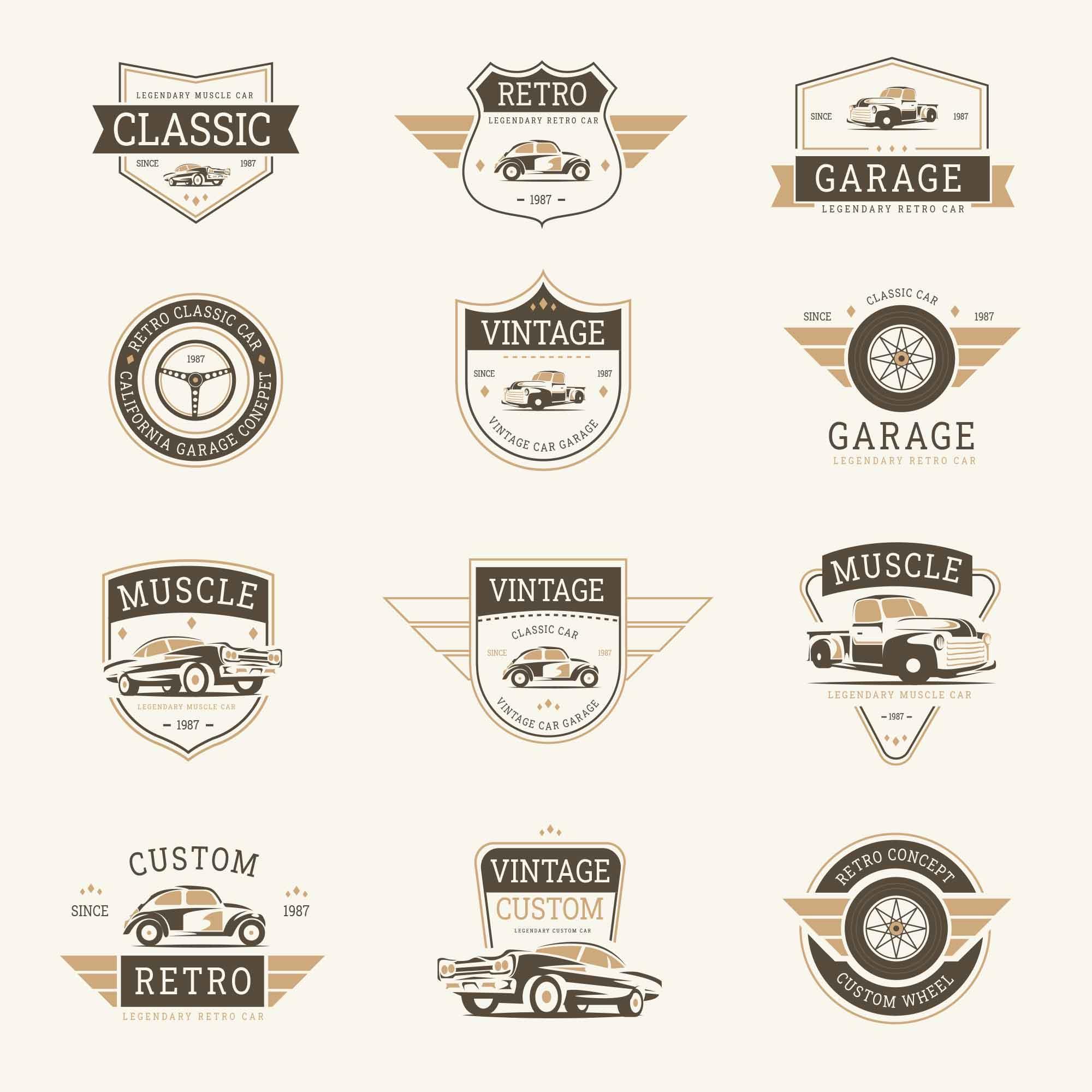 Classic Car Badges