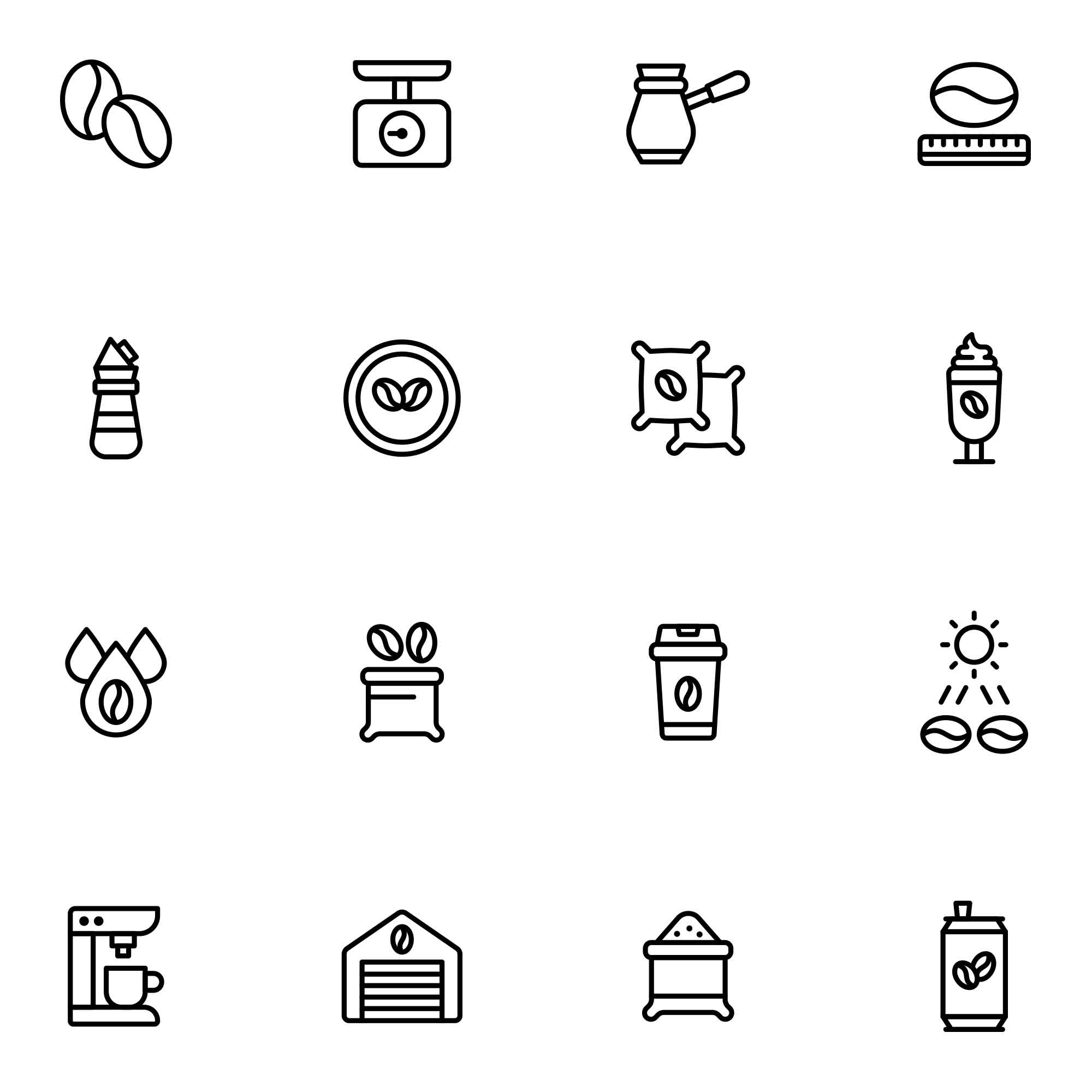 Coffee Production Icons