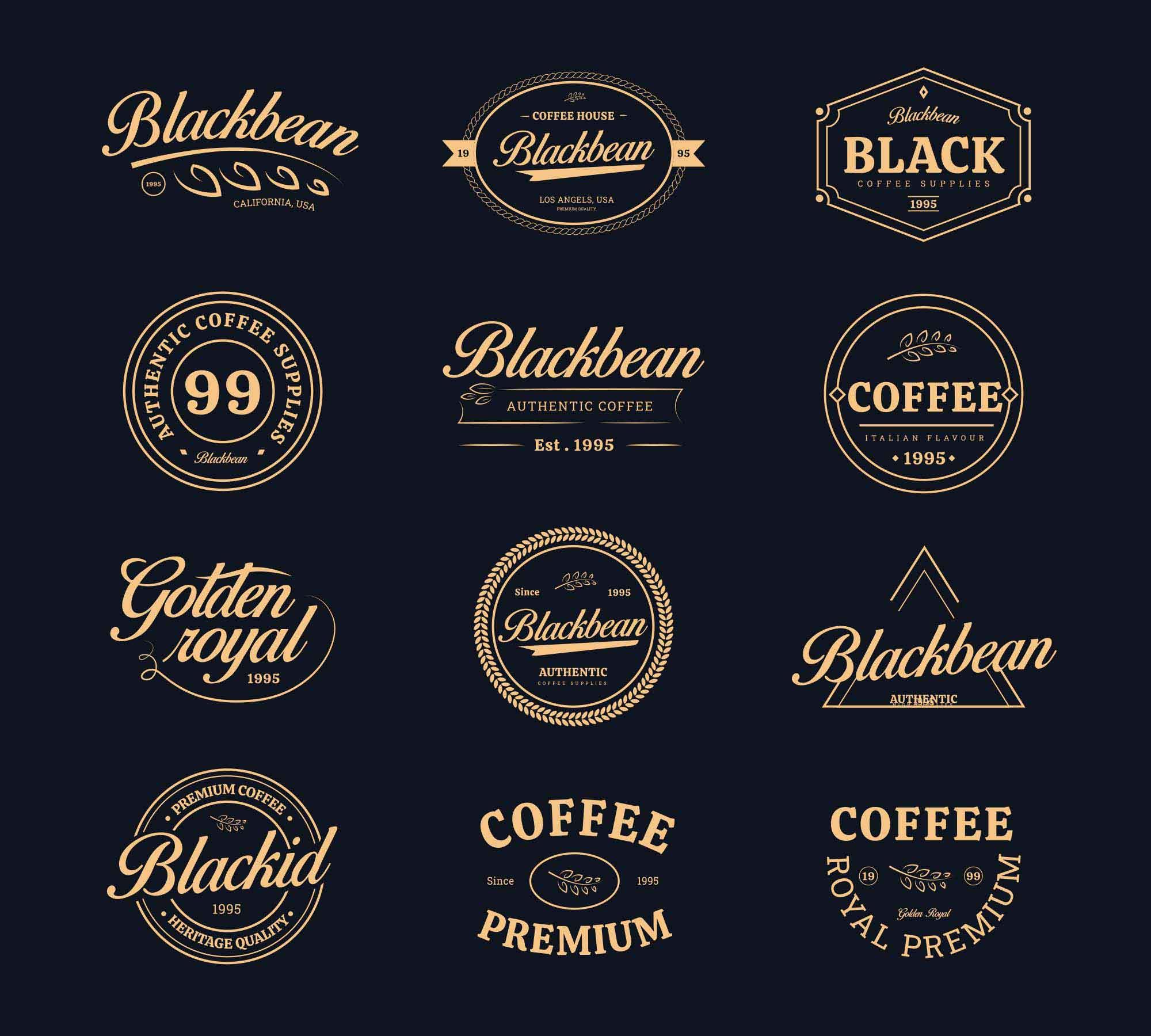 Coffee Shop Vector Badges 2