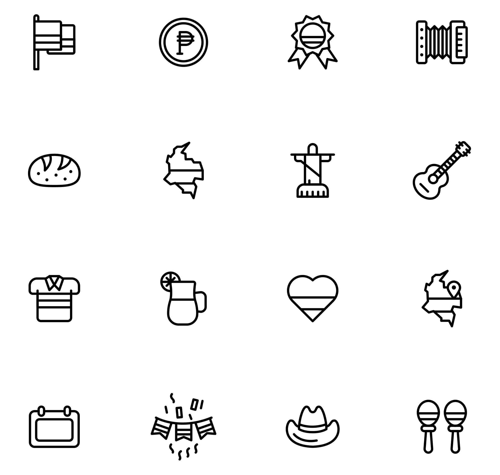 Colombia Vector Icons