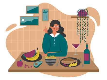 Dinner Vector Illustration