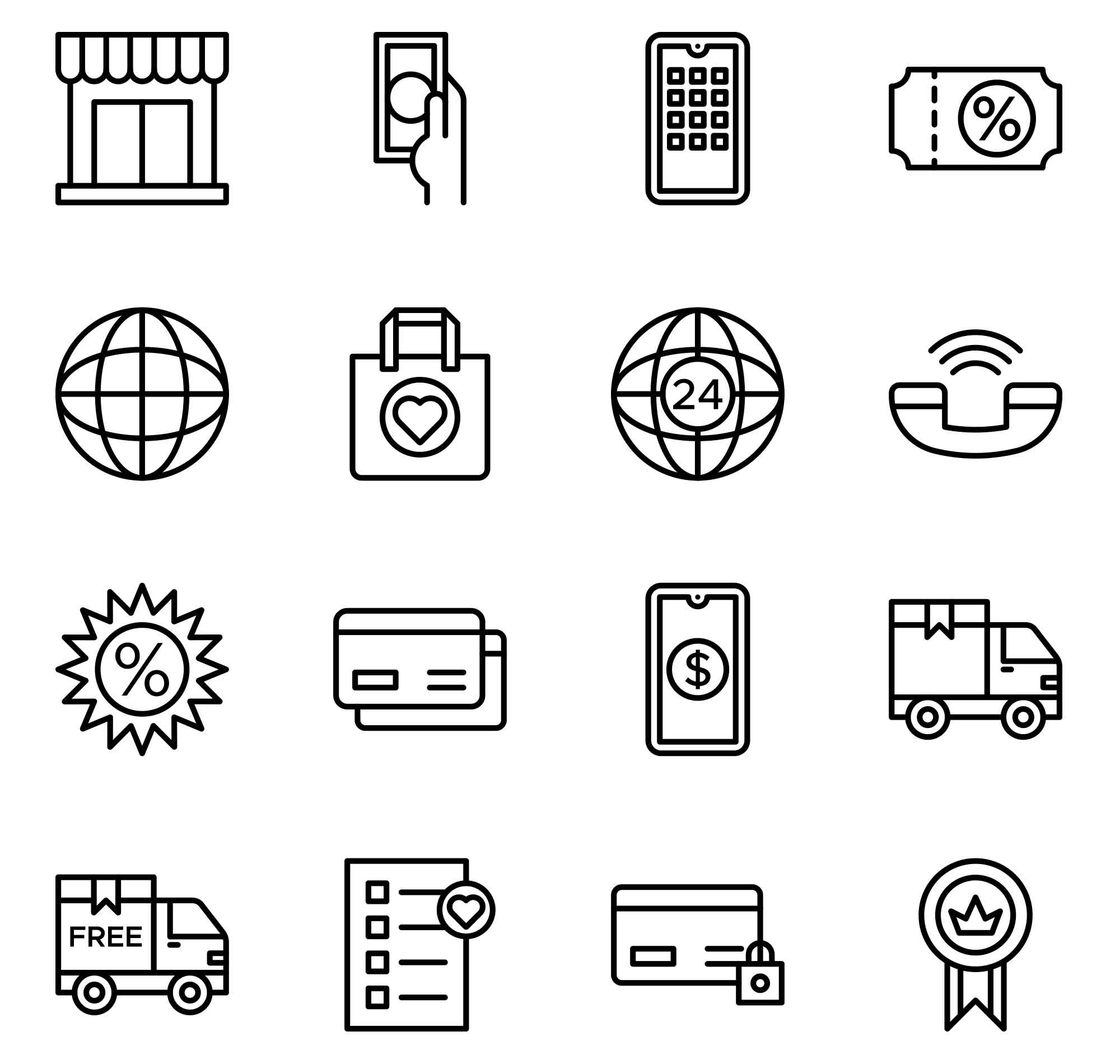 E-commerce Vector Icons 2