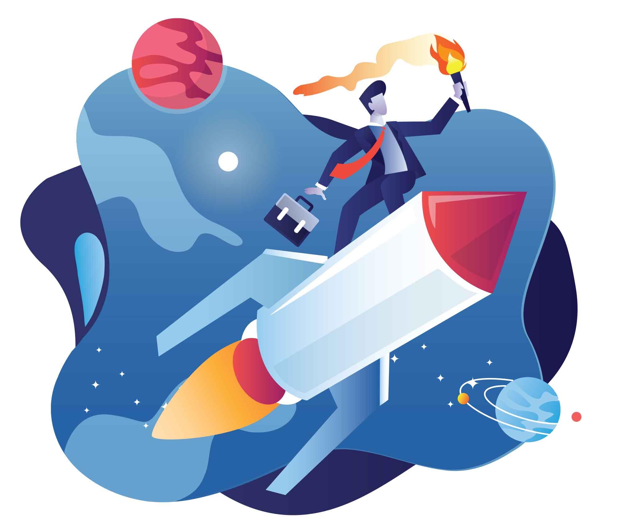 Entrepreneur Start-Up Illustration