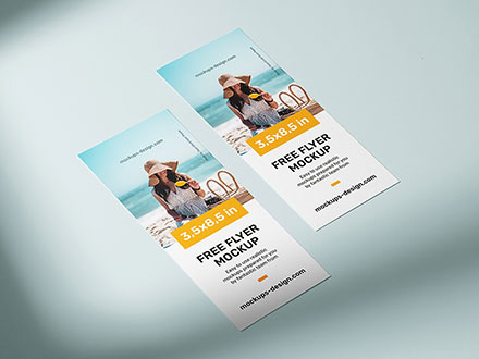 Flyer Mockup 3.5 x 8.5 Inches