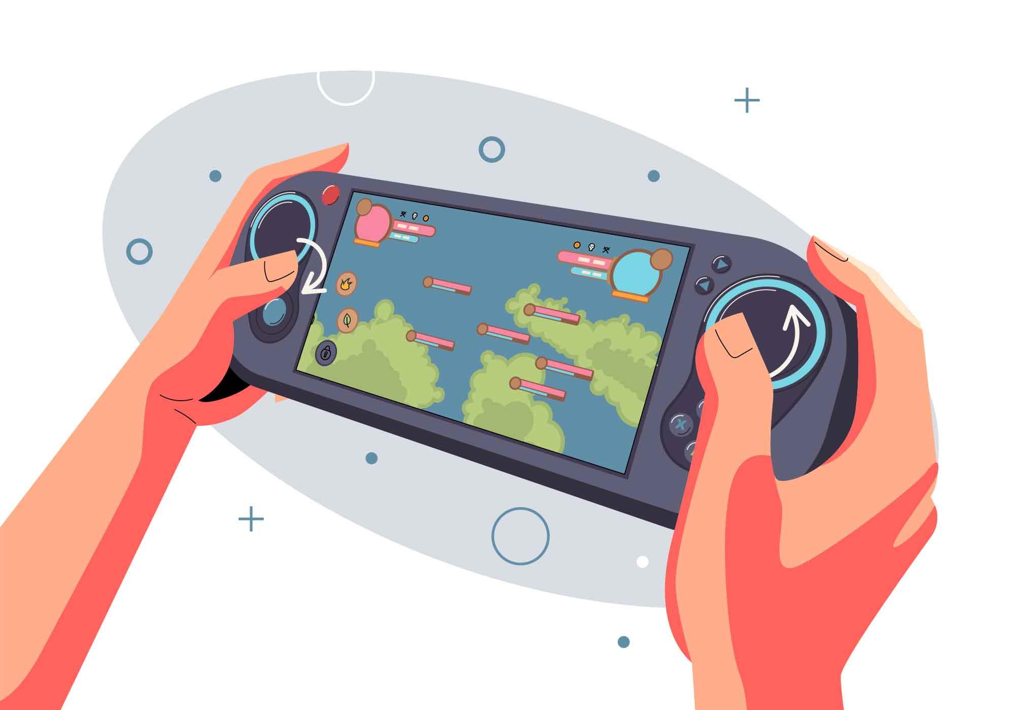 Gamer Vector Illustration