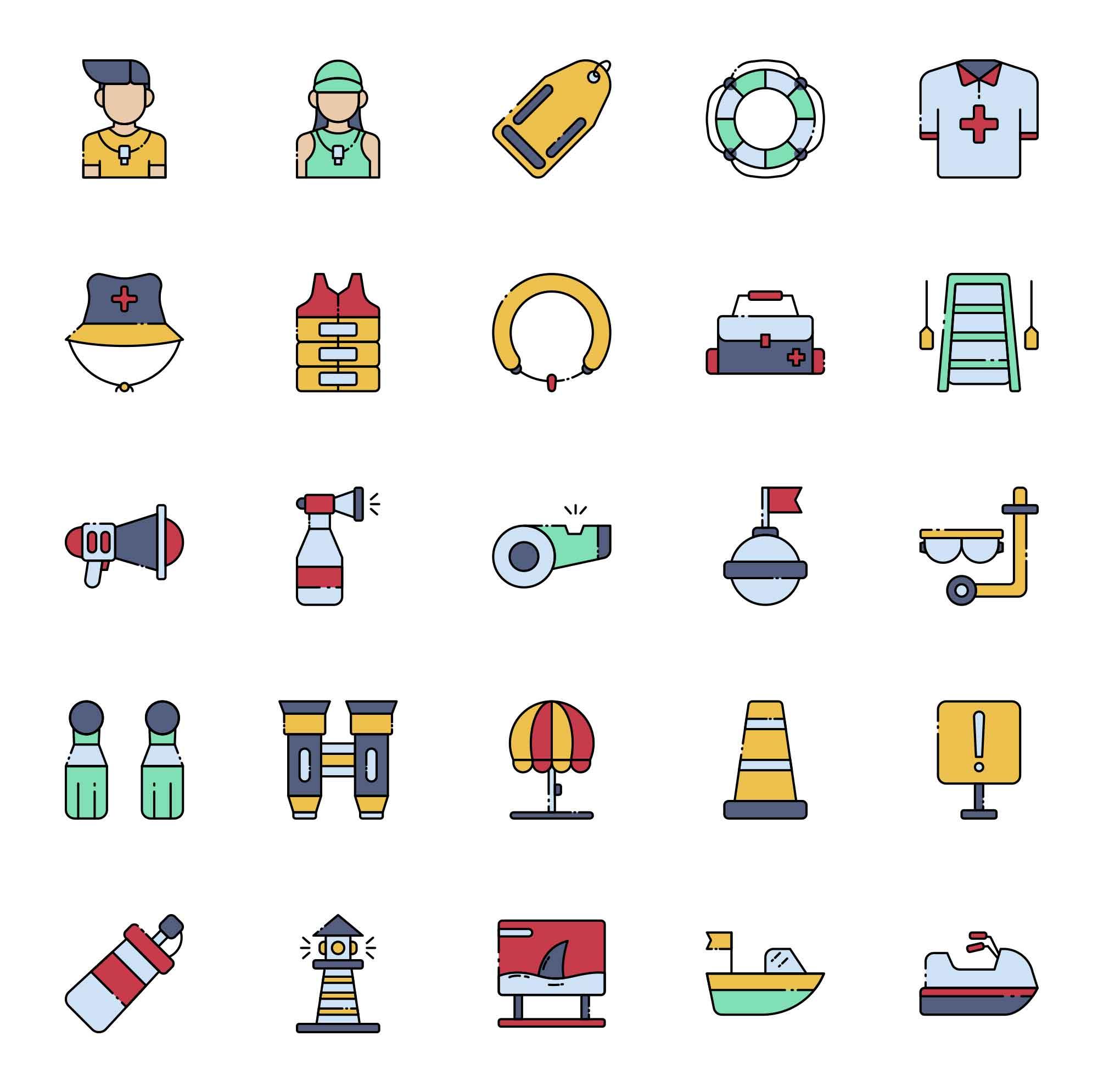Lifeguard Vector Icons