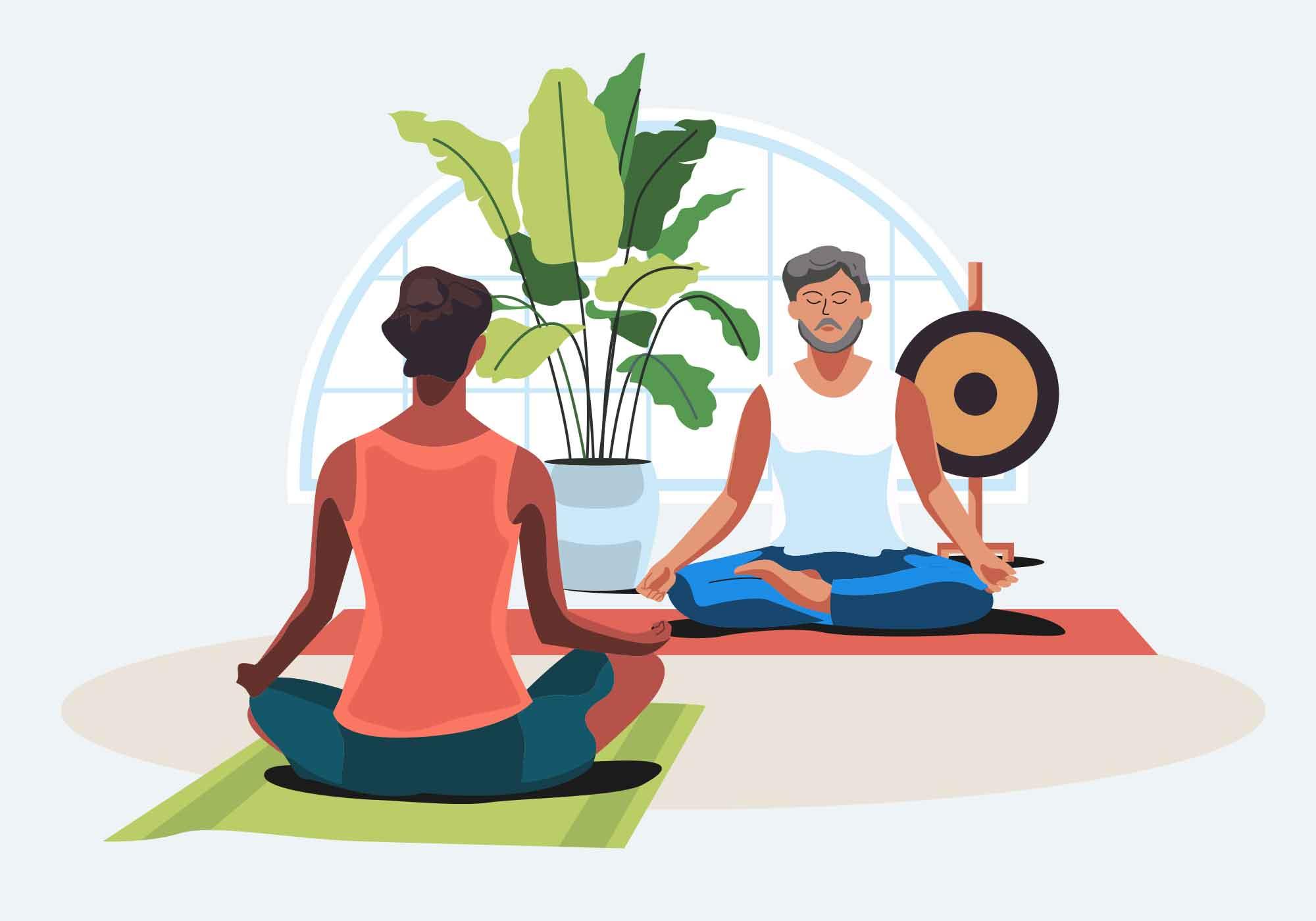 Meditation Vector Illustration