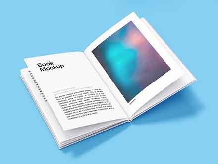 Open Hardcover Book Mockup
