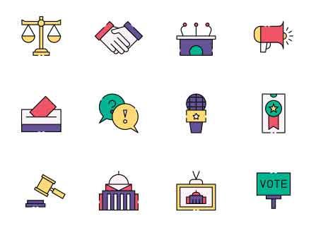 Politician Vector Icons