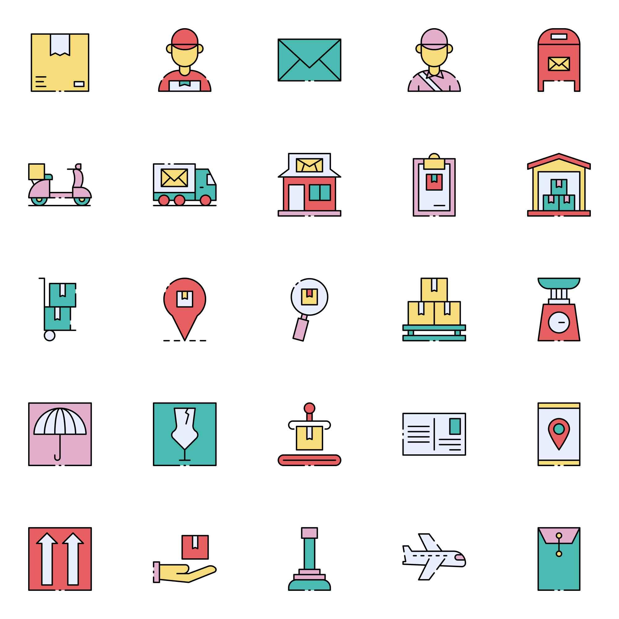 Postman Vector Icons