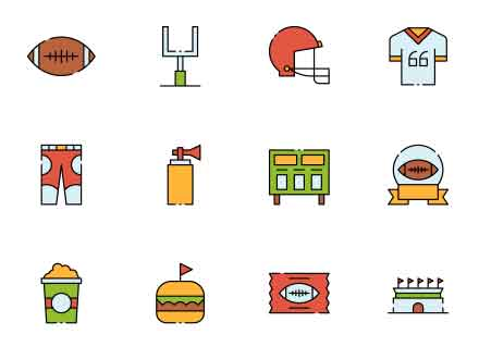 Rugby Vector Icon