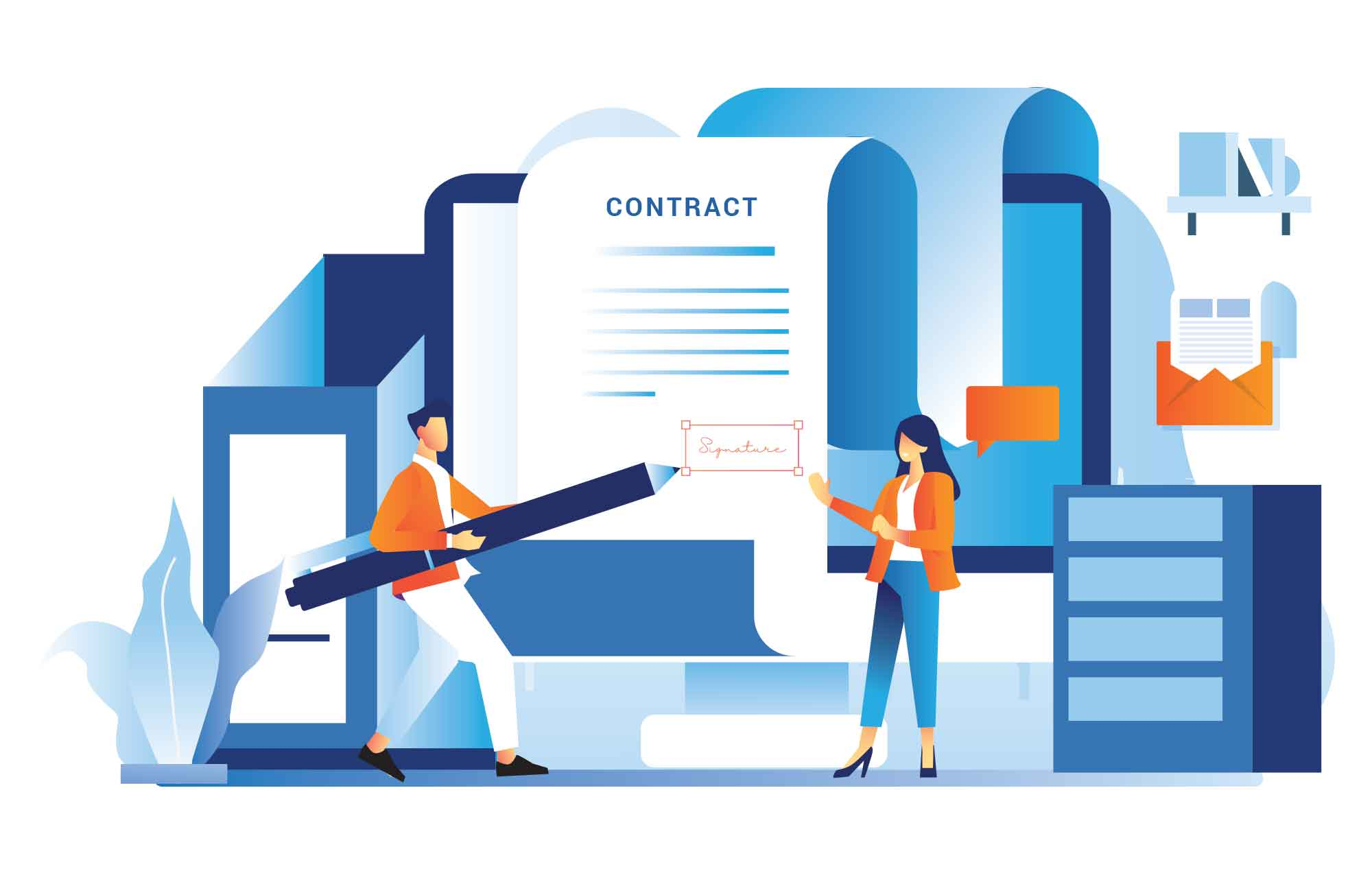 Signing Contract Illustration