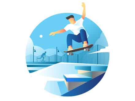 Skater Vector Illustration