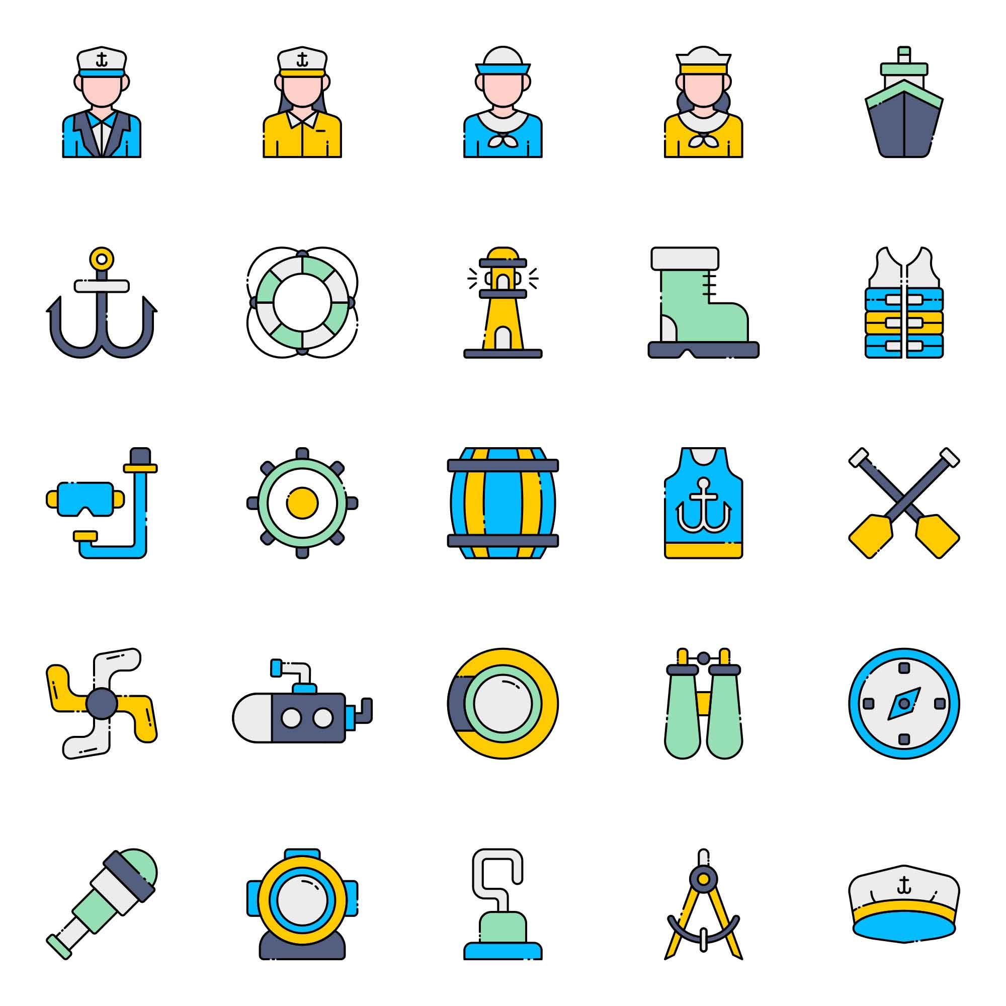 Skipper Vector Icons