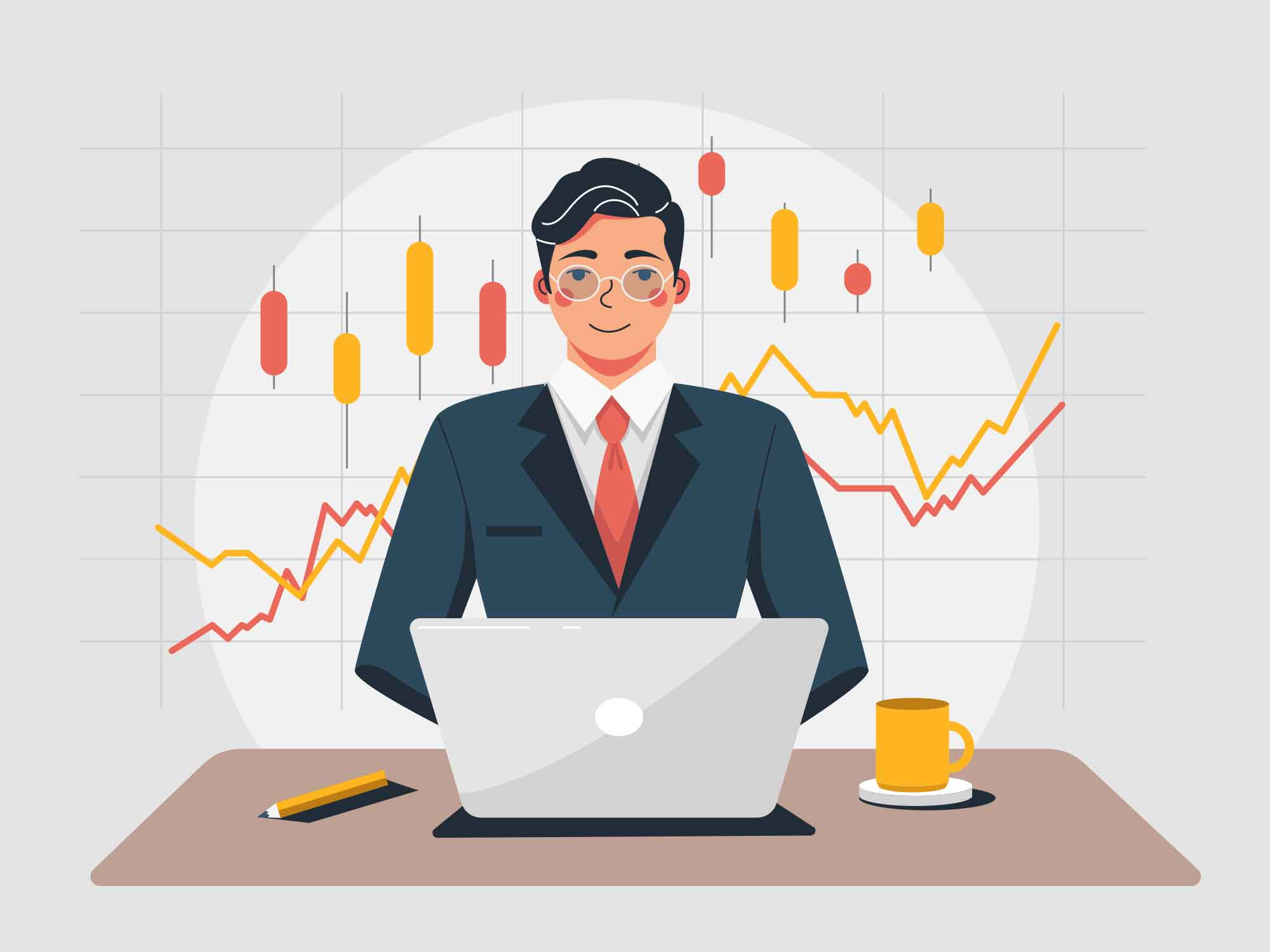 Stock Trader Illustration