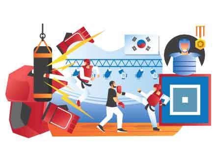 Taekwondo Illustration