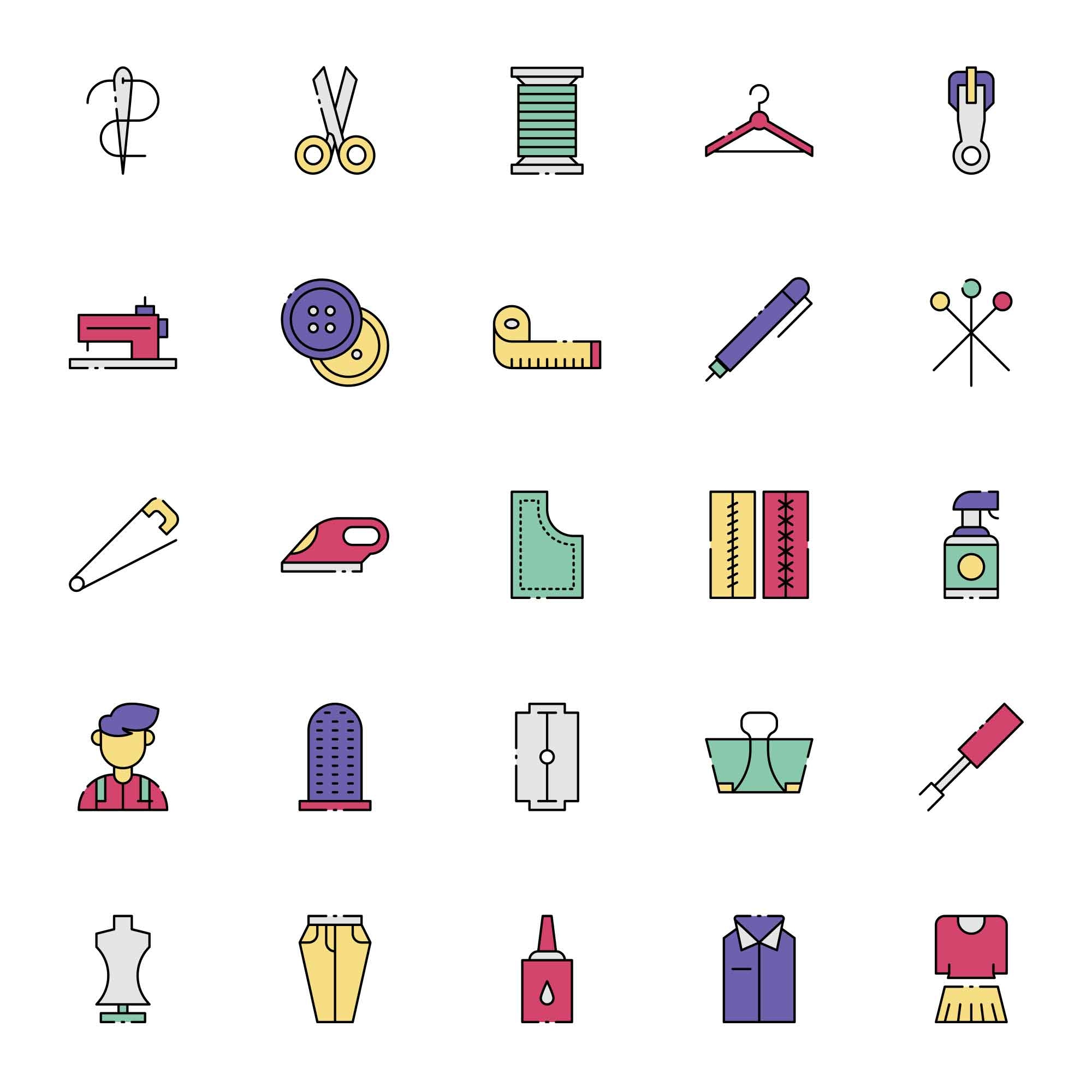 Tailor Vector Icons