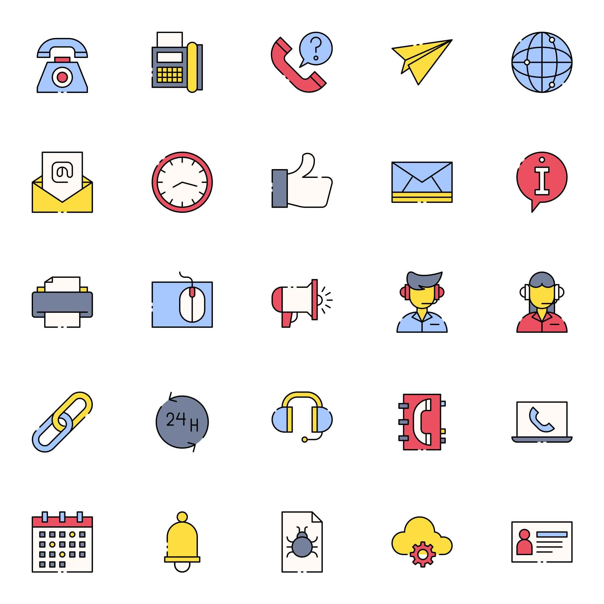Telephone Operator Icons