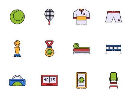 Tennis Vector Icon