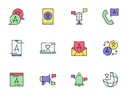 Translator Vector Icons
