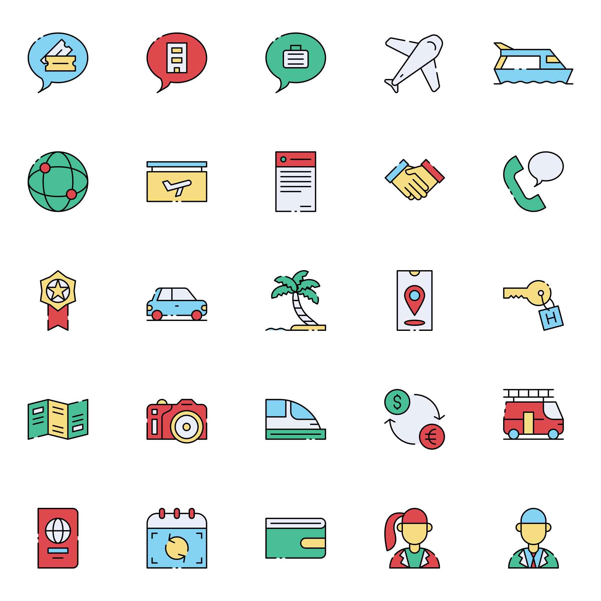 Travel Agent Icons